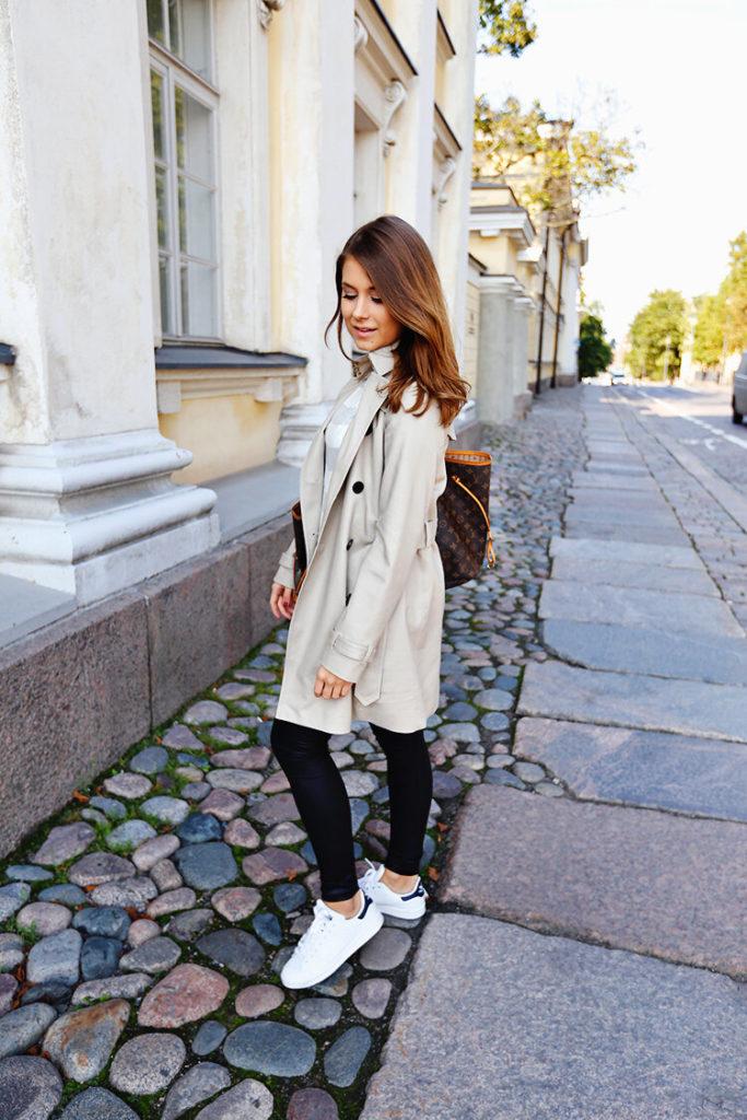 Образы с белыми кроссовками
