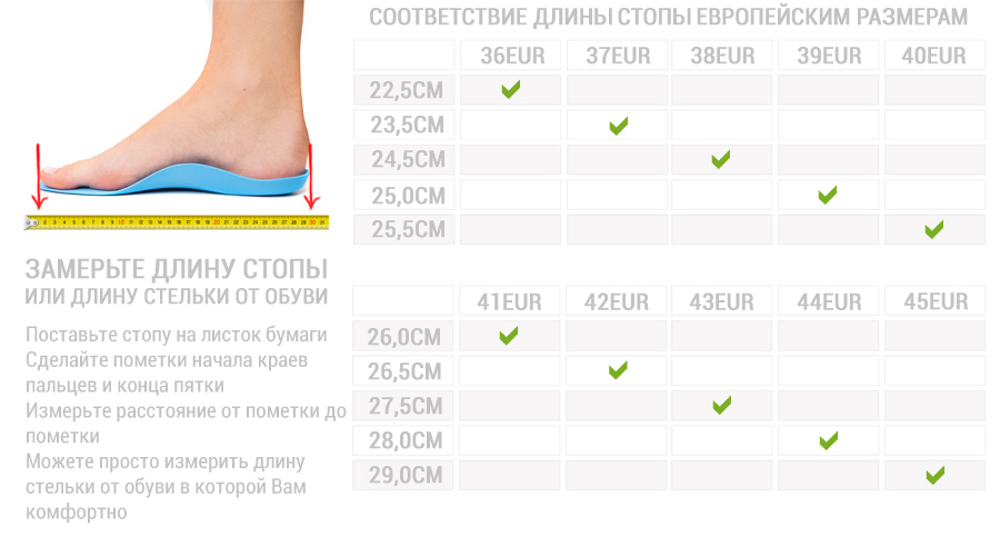 Как правильно подобрать размер кроссовок для бега