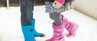 Советы по выбору зимней обуви для детей