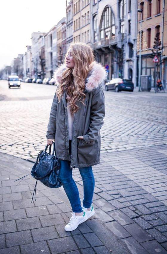 кроссовки с куртками