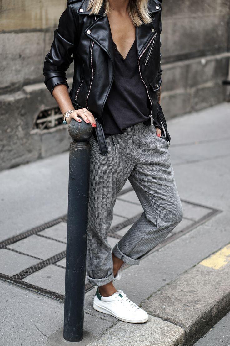 Женские брюки с кедами