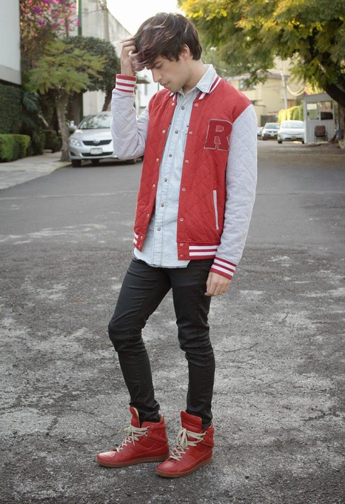 С чем носить красные мужские кроссовки