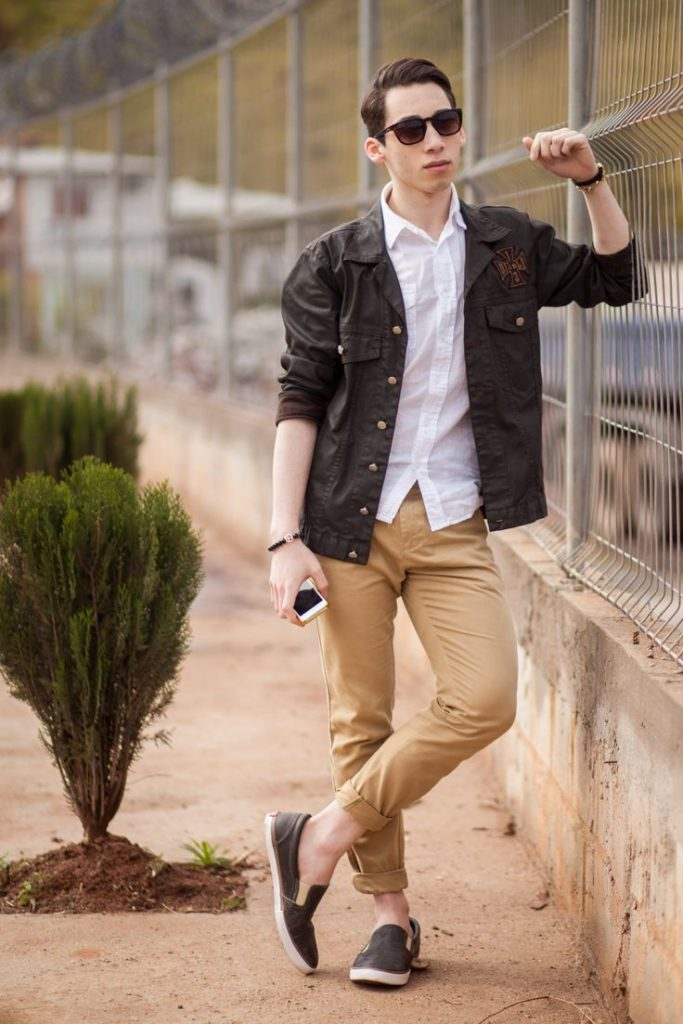 С чем носить мужские слипоны