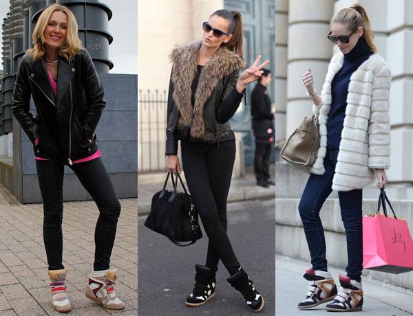 Как носить кроссовки зимой