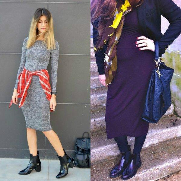 C чем носить женские ботинки челси