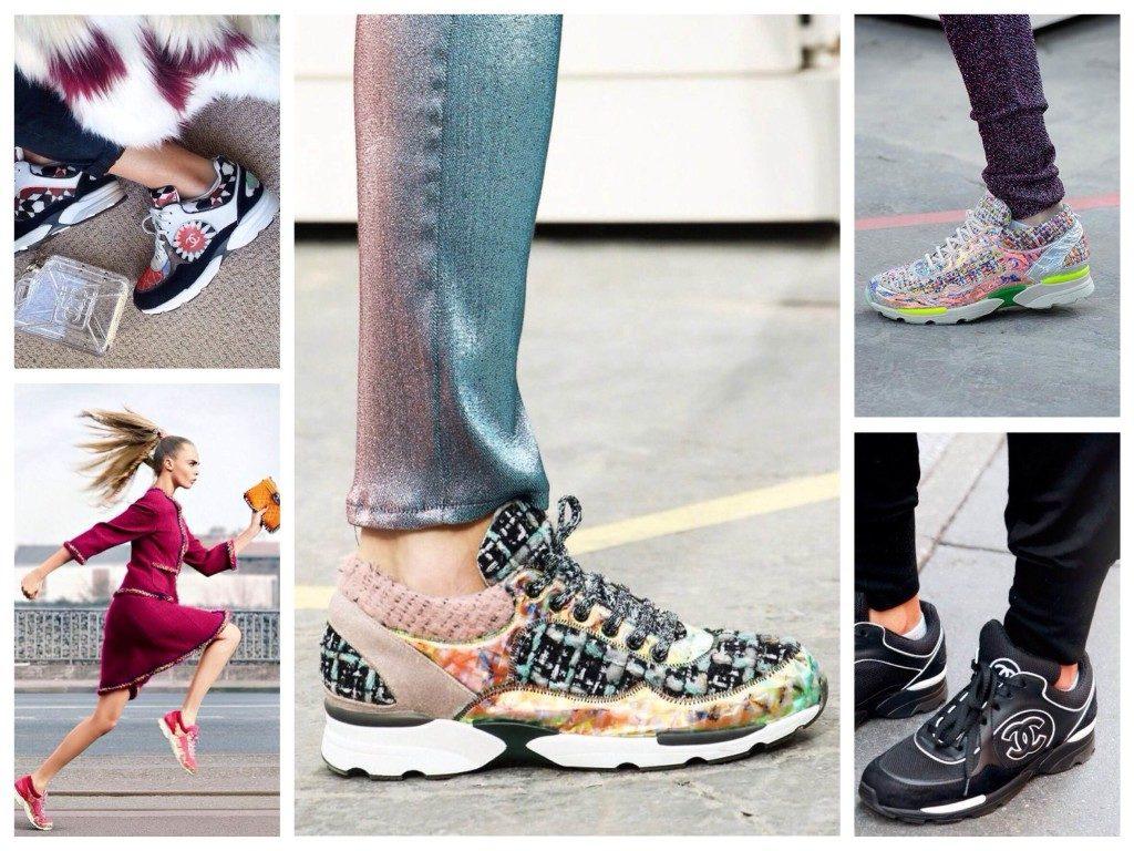 С чем носить массивные кроссовки
