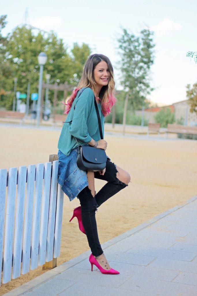 С чем носить туфли цвета фуксии