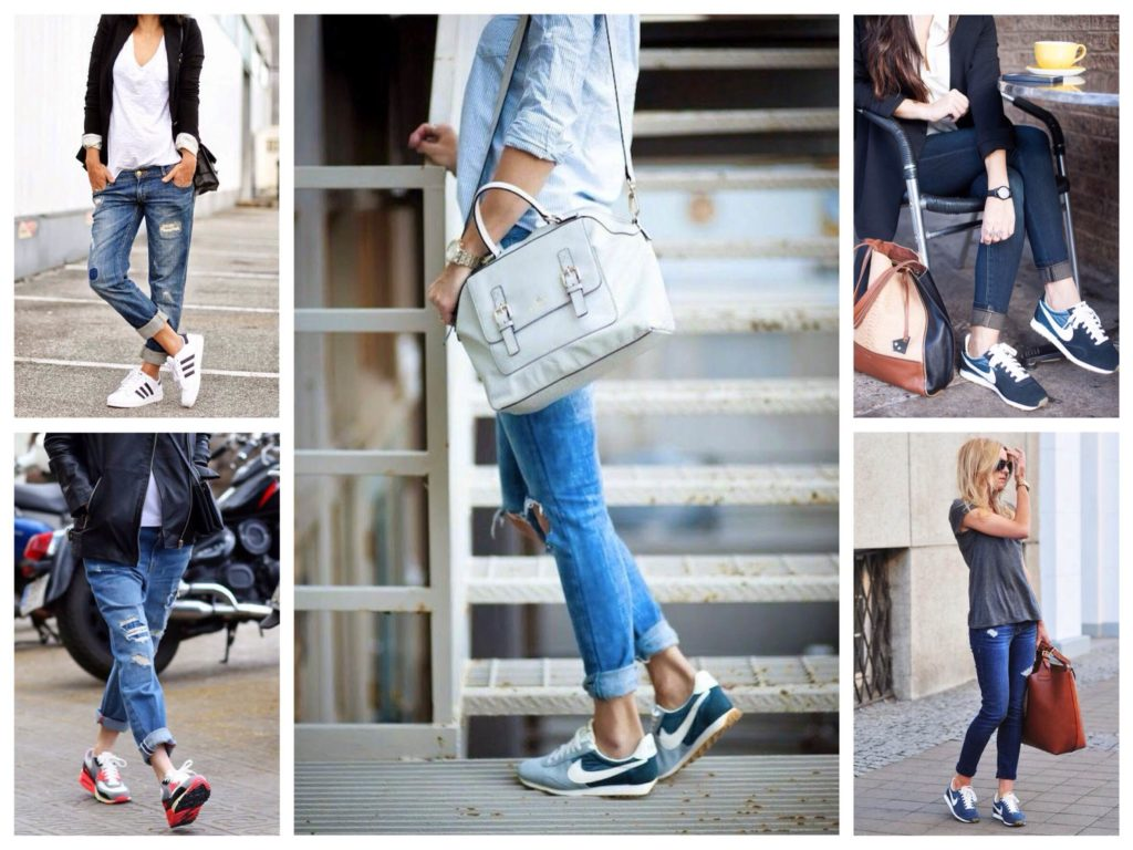 Как подобрать кроссовки под джинсы