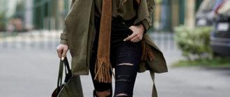 С чем носить сапоги цвета хаки