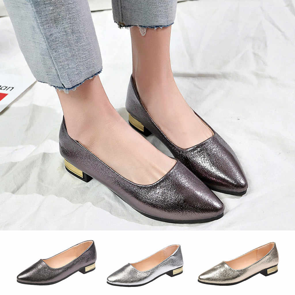 Женские туфли на низком каблуке 2019