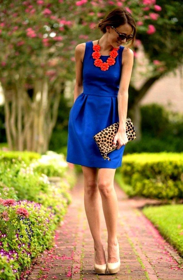 Туфли под тёмно-синее платье