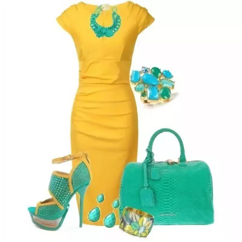 Какие туфли подойдут к жёлтому платью