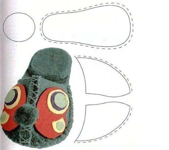 Тапочки из фетра своими руками: выкройки
