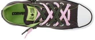 Шнуровка кроссовок с 5-ю дырками