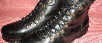 Армейская шнуровка берцев