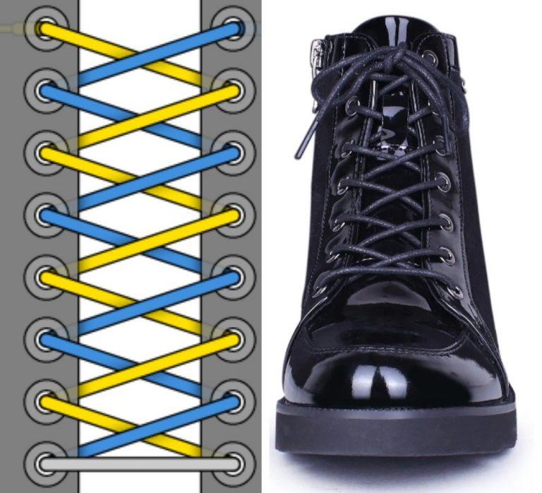 Шнуровка ботинок: варианты
