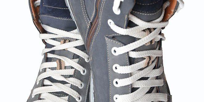 Шнуровка высоких кроссовок