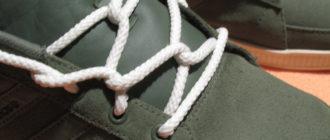 Шнуровка ботинок с 4-мя дырками